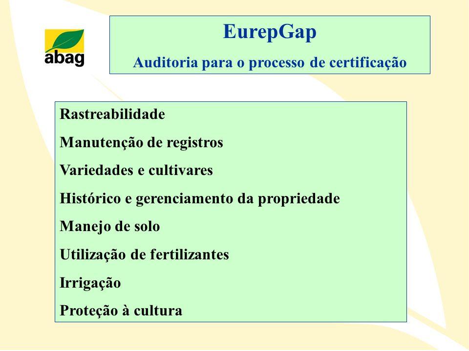 Auditoria para o processo de certificação