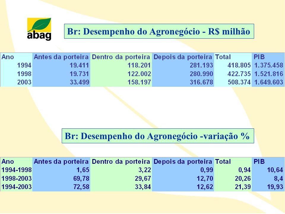 Br: Desempenho do Agronegócio - R$ milhão