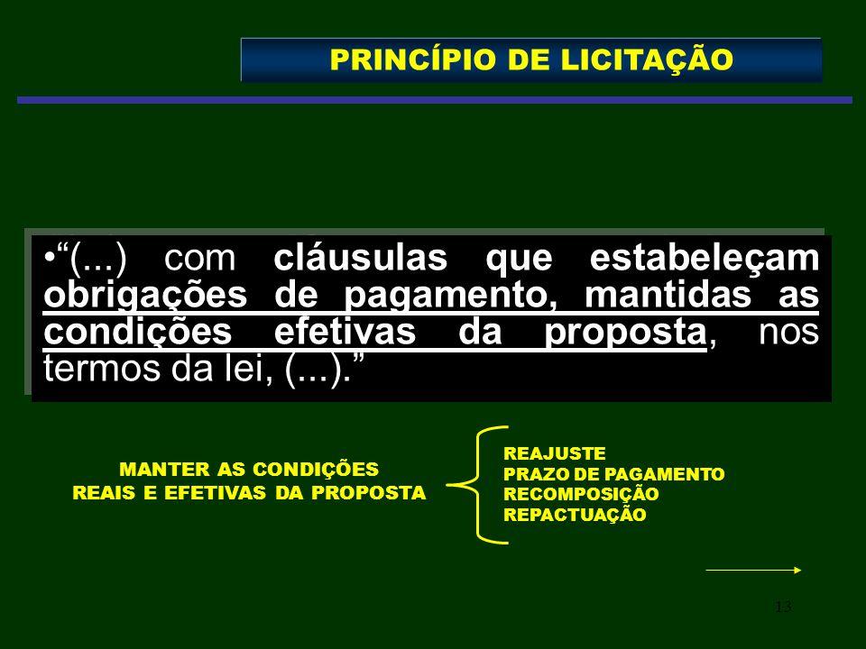 PRINCÍPIO DE LICITAÇÃO