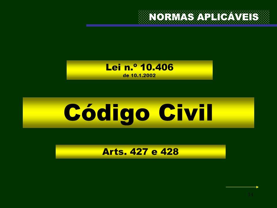 Código Civil NORMAS APLICÁVEIS Lei n.º 10.406 de 10.1.2002