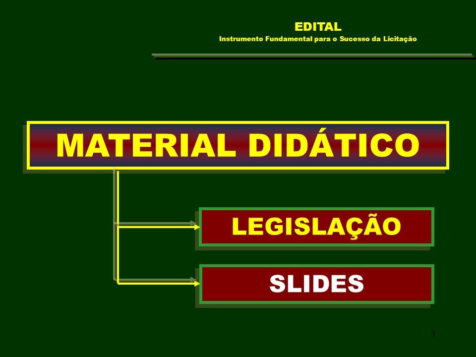 EDITAL Instrumento Fundamental para o Sucesso da Licitação