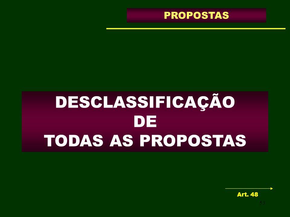 DESCLASSIFICAÇÃO DE TODAS AS PROPOSTAS