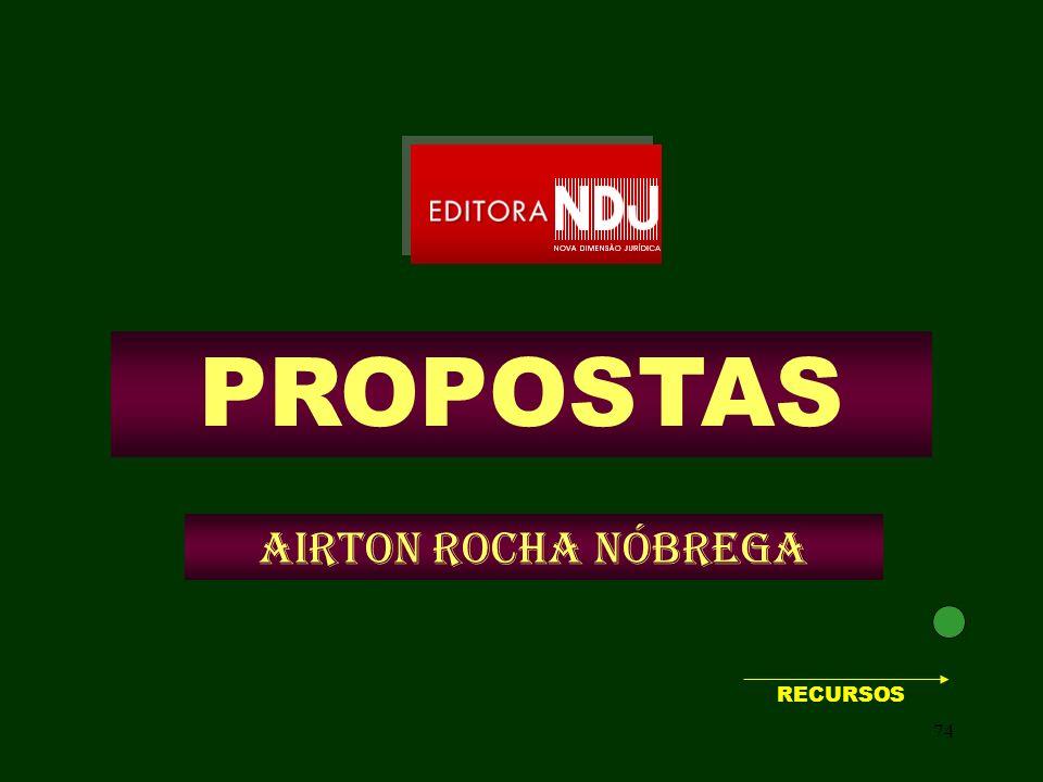 PROPOSTAS Airton Rocha Nóbrega RECURSOS