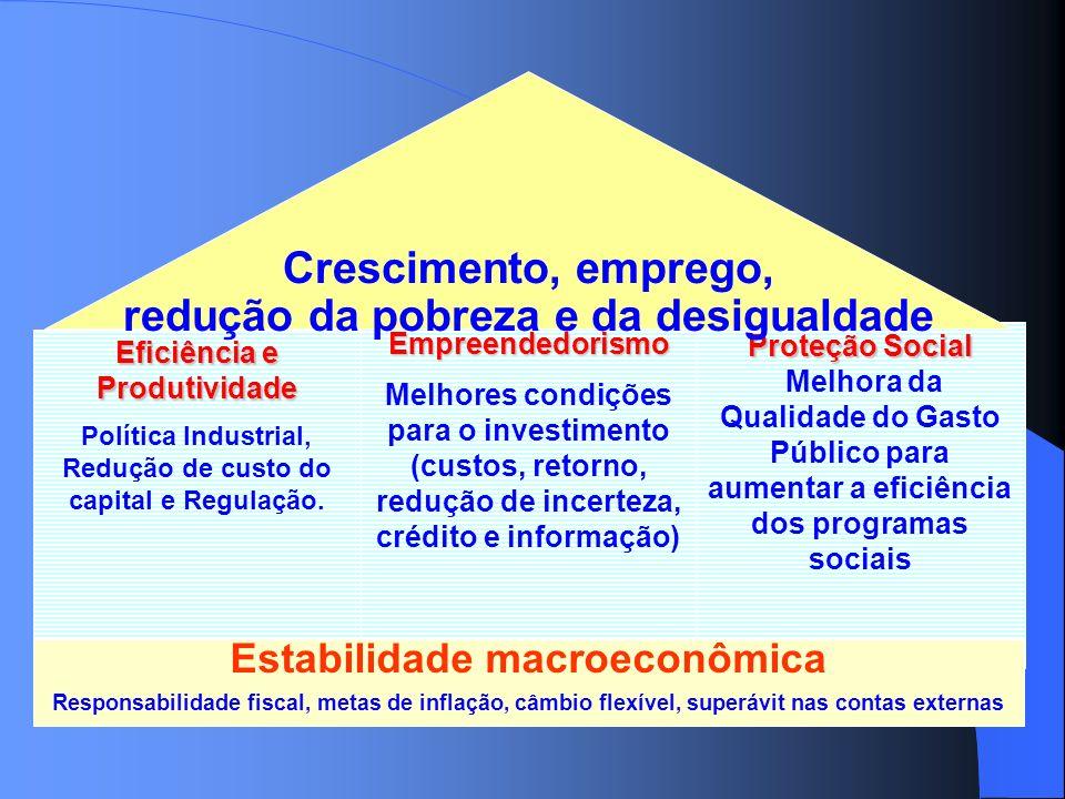 Crescimento, emprego, redução da pobreza e da desigualdade