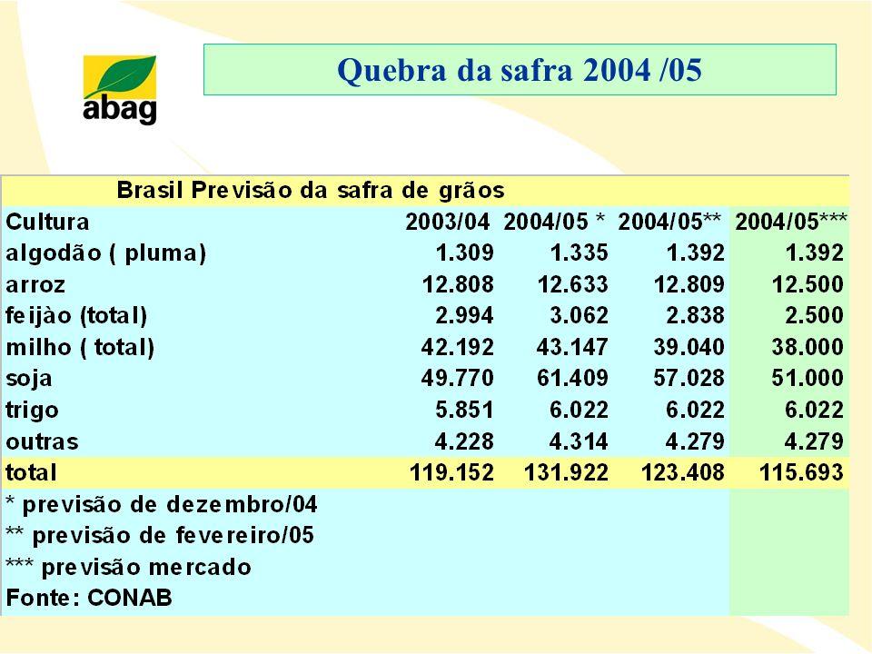 Quebra da safra 2004 /05