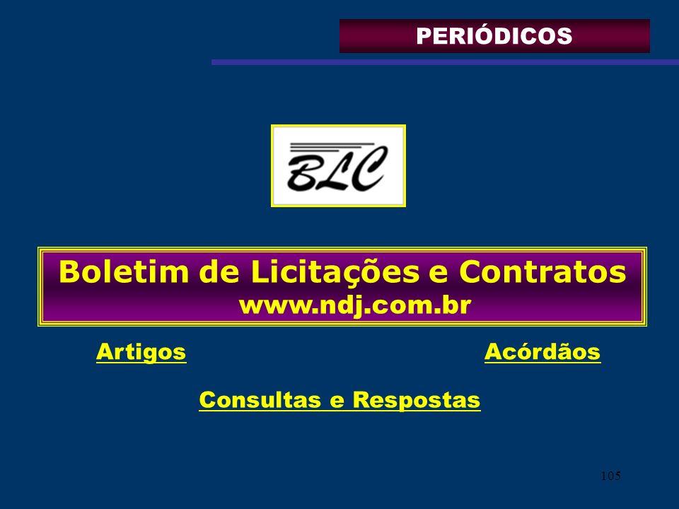 Boletim de Licitações e Contratos www.ndj.com.br