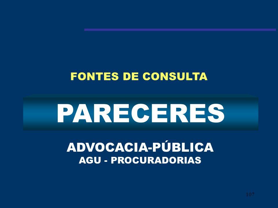 ADVOCACIA-PÚBLICA AGU - PROCURADORIAS
