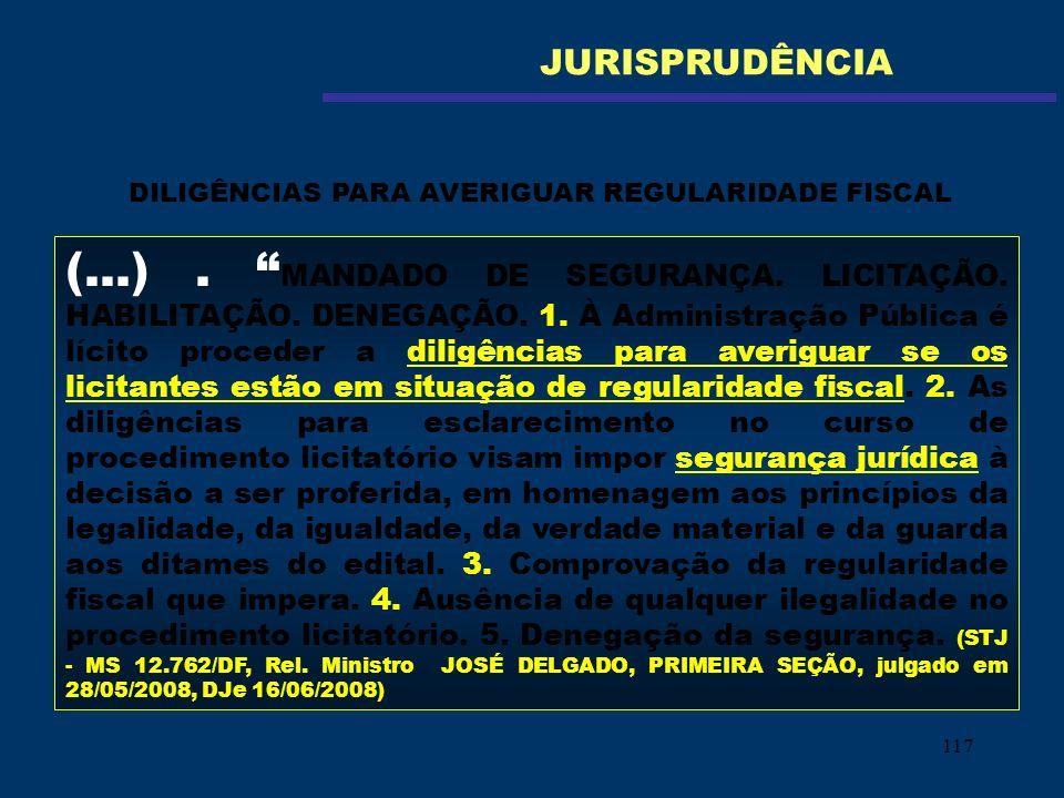 DILIGÊNCIAS PARA AVERIGUAR REGULARIDADE FISCAL