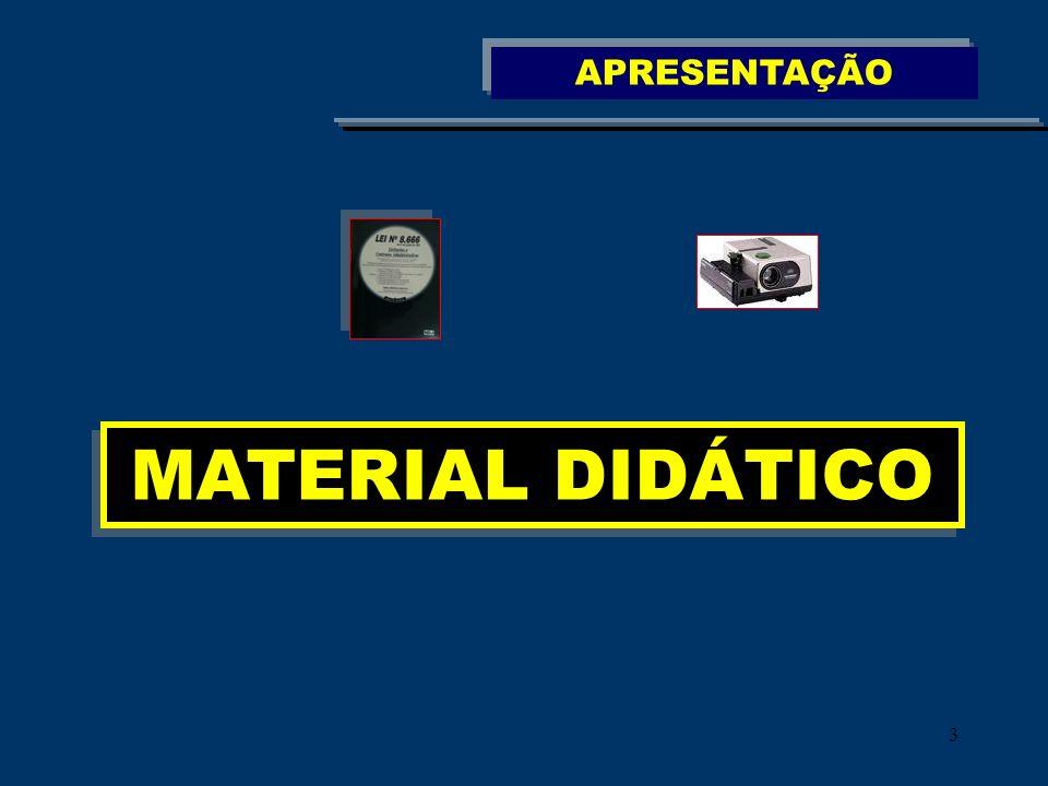 APRESENTAÇÃO MATERIAL DIDÁTICO