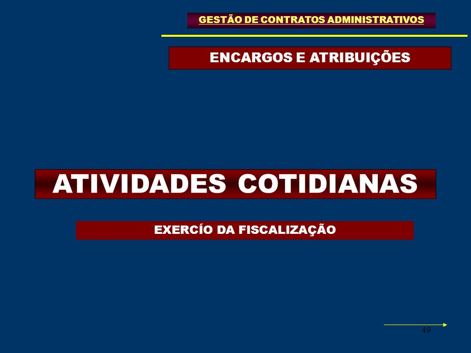 ENCARGOS E ATRIBUIÇÕES ATIVIDADES COTIDIANAS