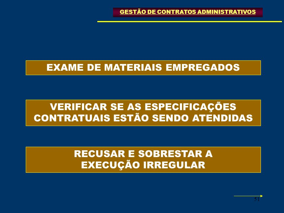 EXAME DE MATERIAIS EMPREGADOS