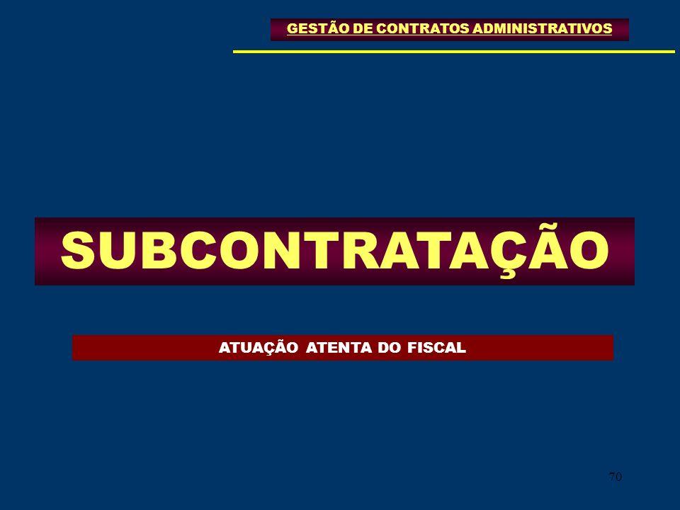 SUBCONTRATAÇÃO ATUAÇÃO ATENTA DO FISCAL