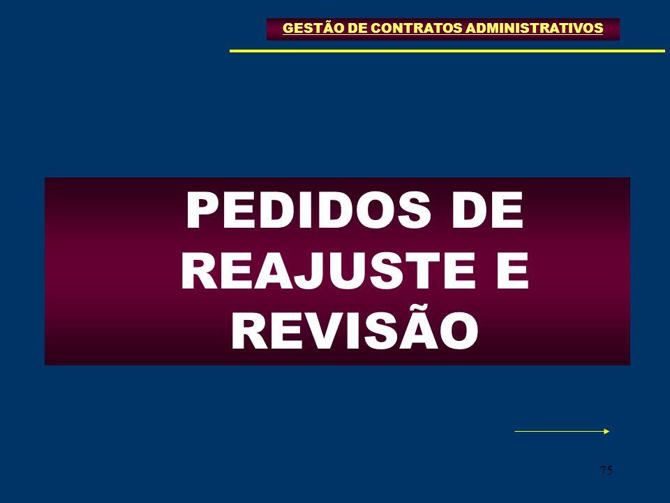 PEDIDOS DE REAJUSTE E REVISÃO