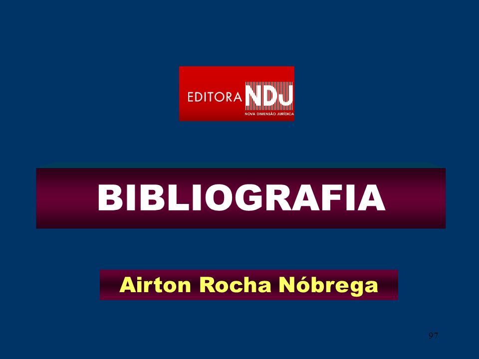BIBLIOGRAFIA Airton Rocha Nóbrega