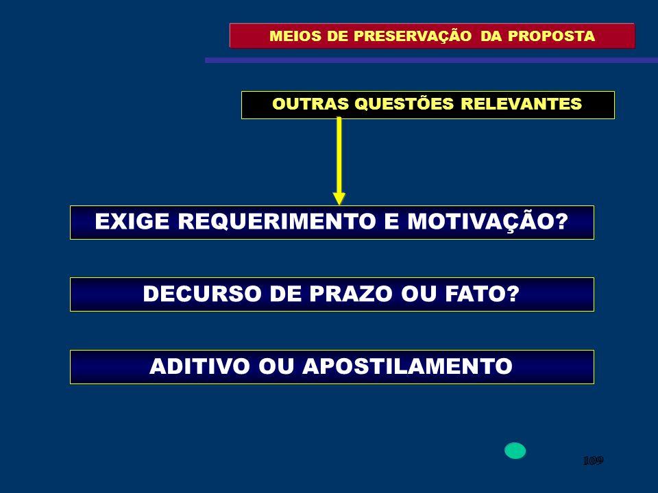 MEIOS DE PRESERVAÇÃO DA PROPOSTA