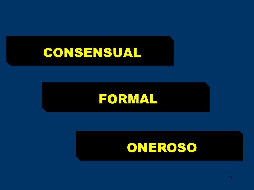 CONSENSUAL FORMAL ONEROSO