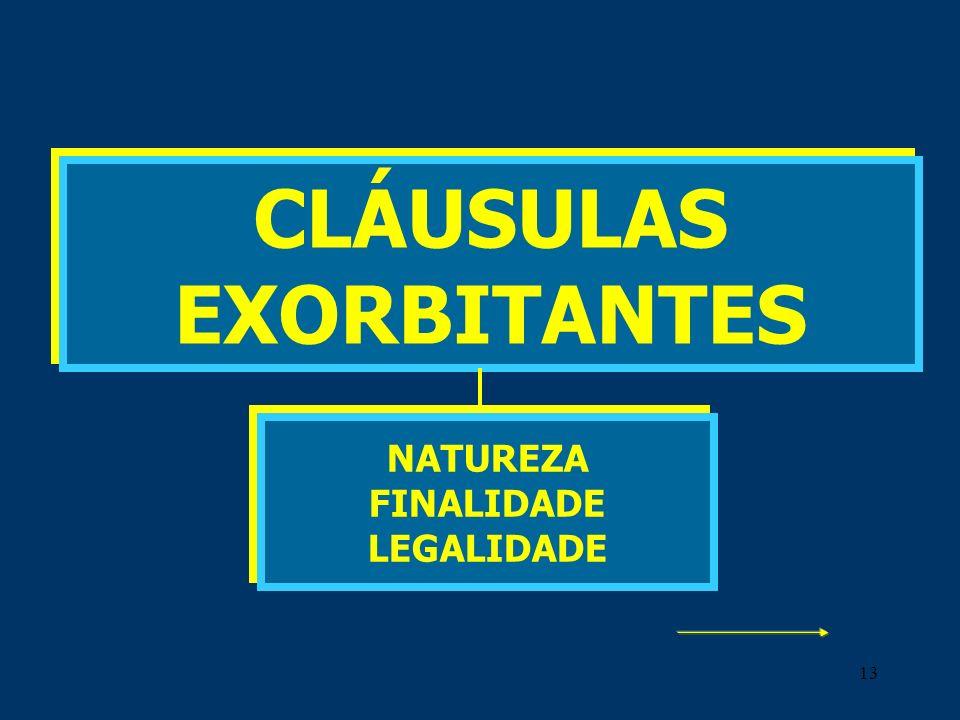CLÁUSULAS EXORBITANTES NATUREZA FINALIDADE LEGALIDADE