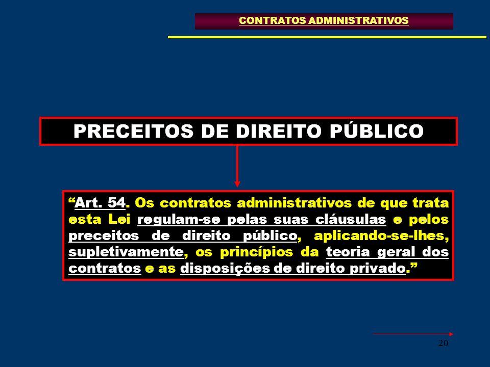 PRECEITOS DE DIREITO PÚBLICO