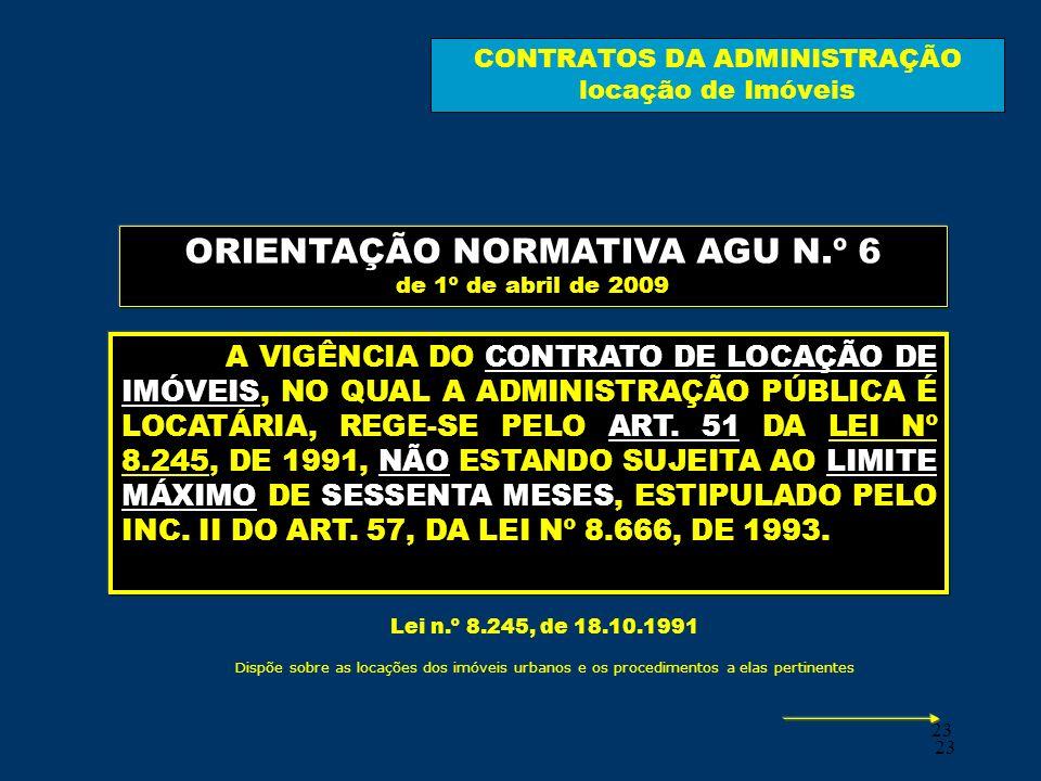 CONTRATOS DA ADMINISTRAÇÃO locação de Imóveis