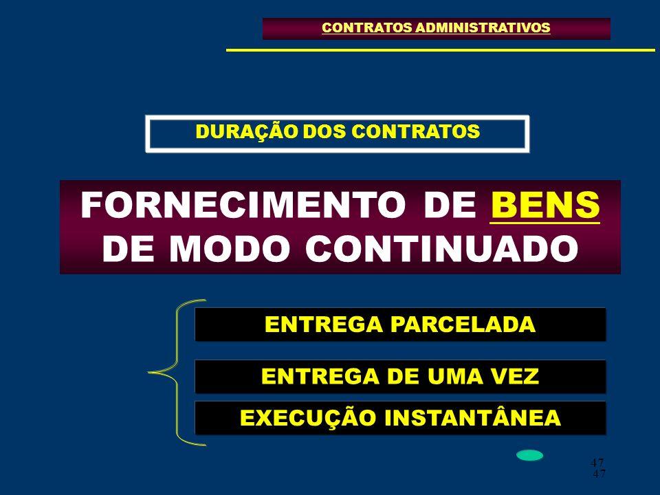 FORNECIMENTO DE BENS DE MODO CONTINUADO