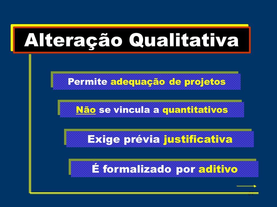 Alteração Qualitativa