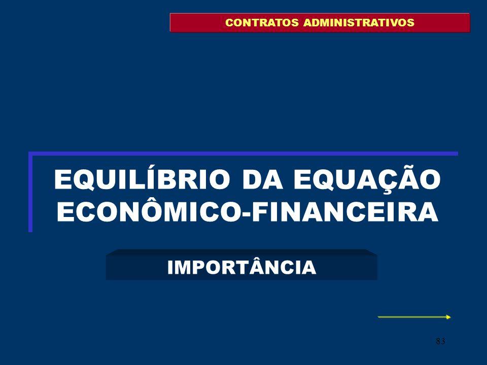 EQUILÍBRIO DA EQUAÇÃO ECONÔMICO-FINANCEIRA