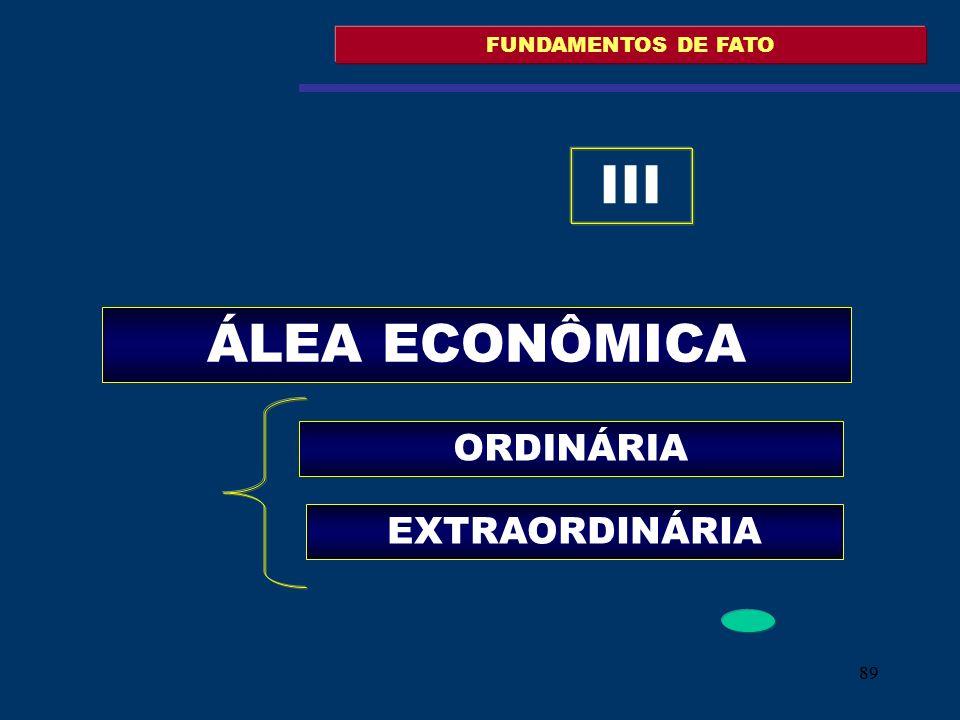 FUNDAMENTOS DE FATO III ÁLEA ECONÔMICA ORDINÁRIA EXTRAORDINÁRIA 89