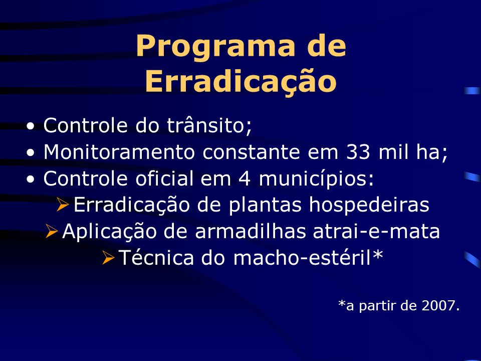 Programa de Erradicação