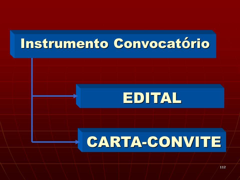 Instrumento Convocatório