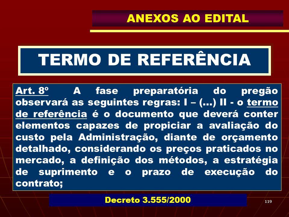 TERMO DE REFERÊNCIA ANEXOS AO EDITAL