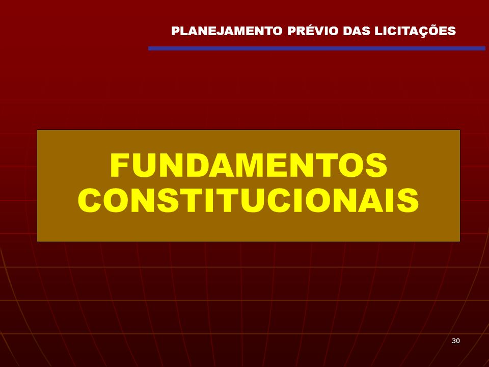FUNDAMENTOS CONSTITUCIONAIS