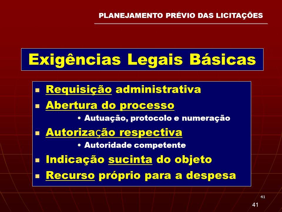 Exigências Legais Básicas