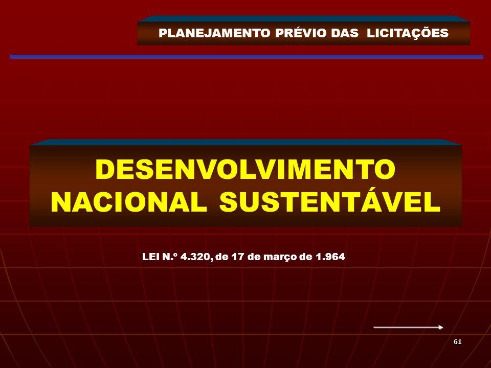 DESENVOLVIMENTO NACIONAL SUSTENTÁVEL