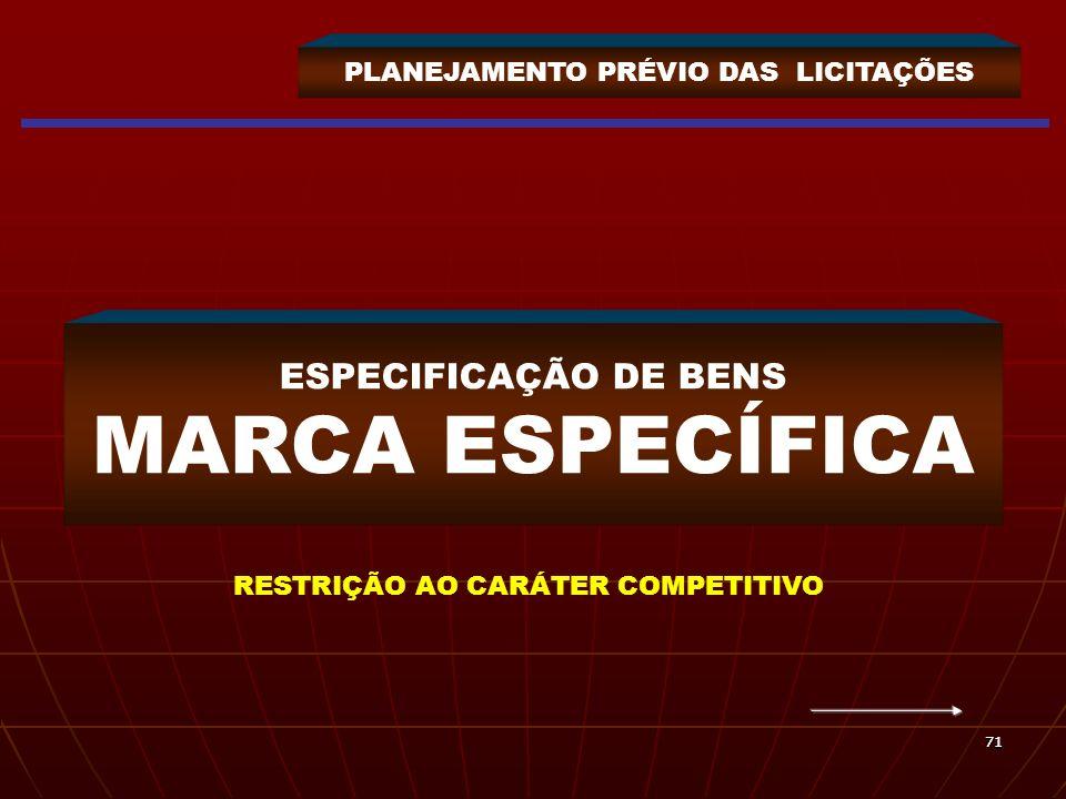ESPECIFICAÇÃO DE BENS MARCA ESPECÍFICA