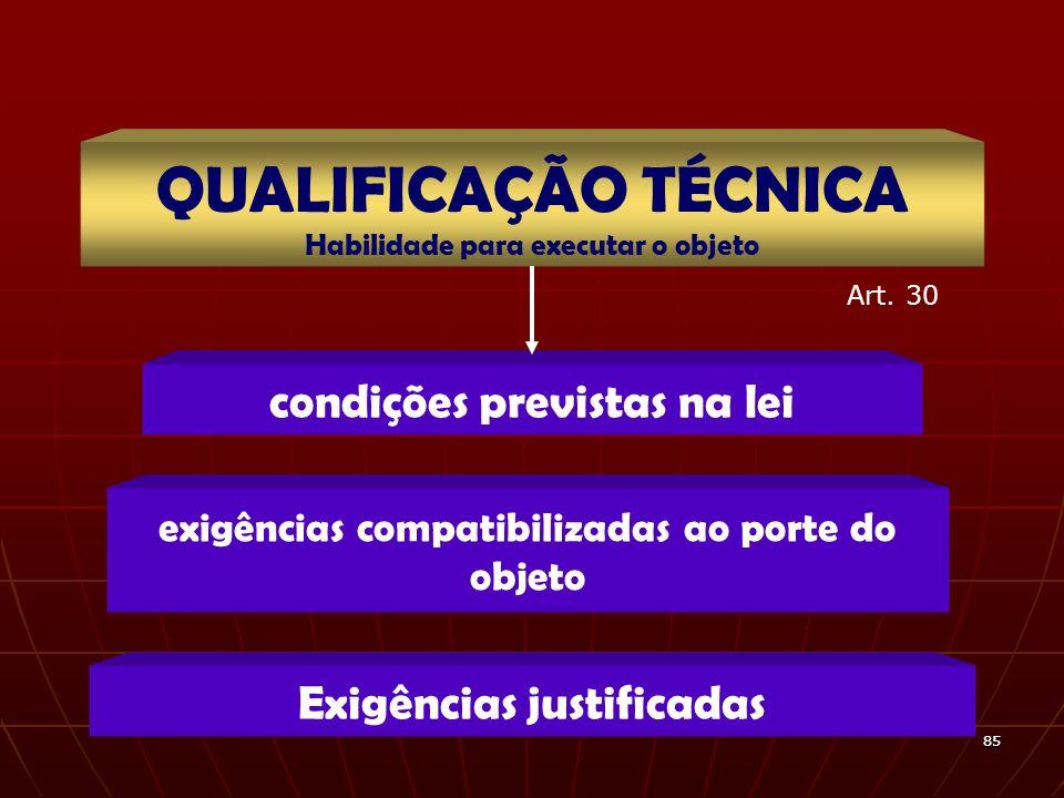 QUALIFICAÇÃO TÉCNICA condições previstas na lei