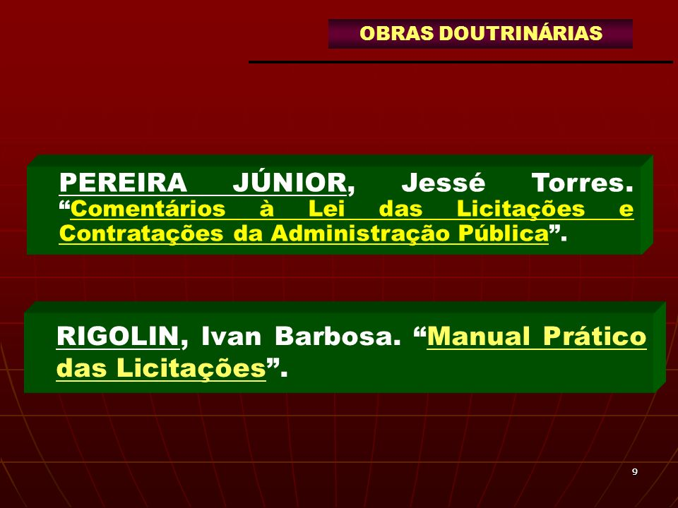 RIGOLIN, Ivan Barbosa. Manual Prático das Licitações .
