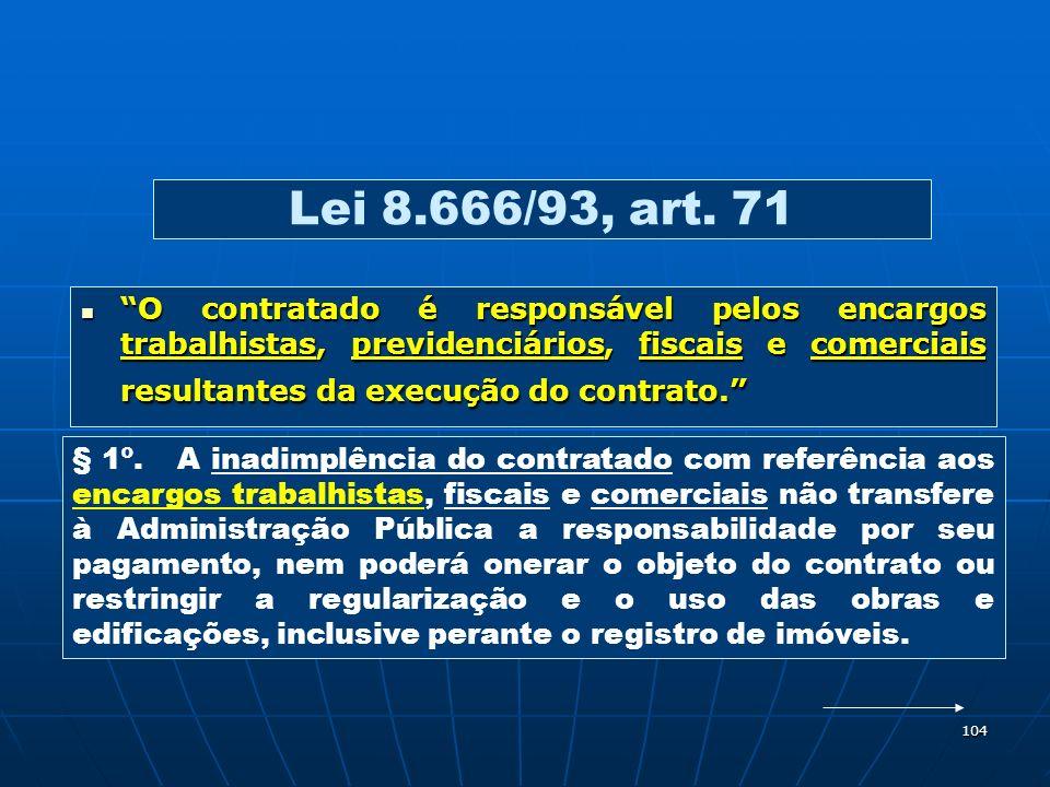Lei 8.666/93, art. 71