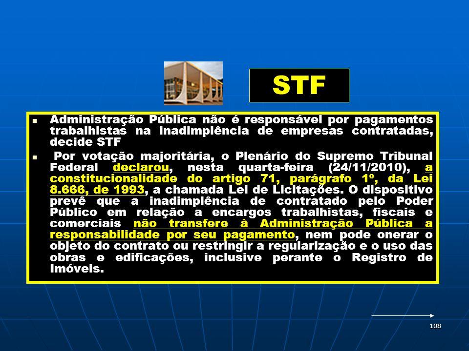 STF Administração Pública não é responsável por pagamentos trabalhistas na inadimplência de empresas contratadas, decide STF.