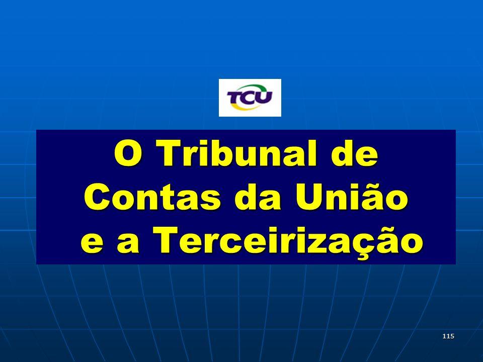 O Tribunal de Contas da União e a Terceirização