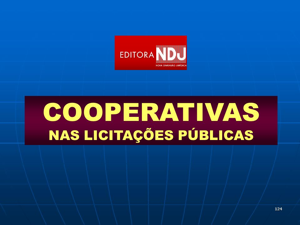 COOPERATIVAS NAS LICITAÇÕES PÚBLICAS
