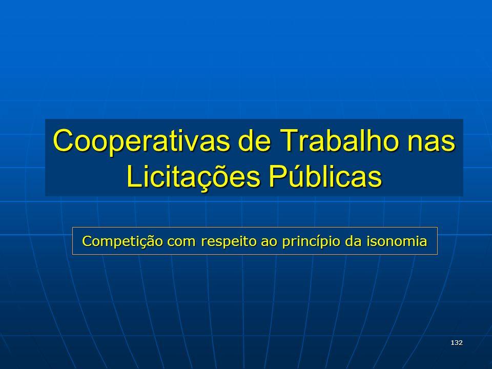 Cooperativas de Trabalho nas Licitações Públicas