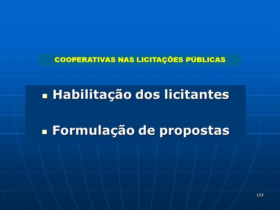 Habilitação dos licitantes Formulação de propostas