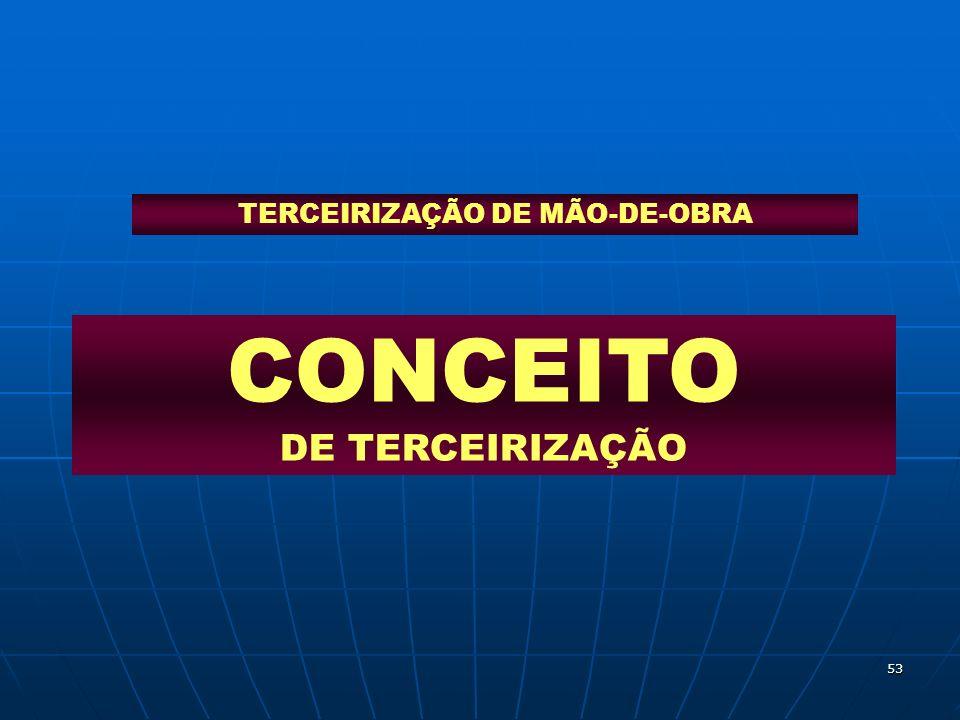 CONCEITO DE TERCEIRIZAÇÃO