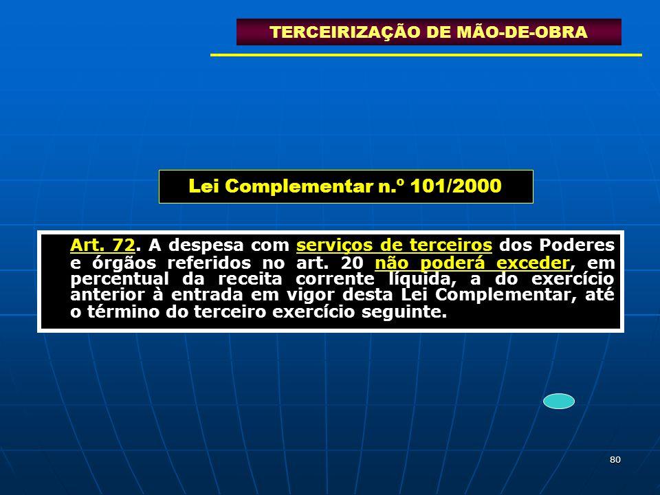 TERCEIRIZAÇÃO DE MÃO-DE-OBRA