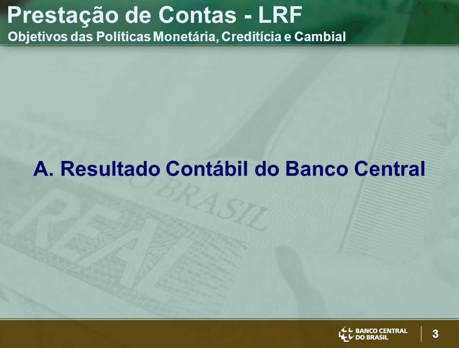 Resultado Contábil do Banco Central
