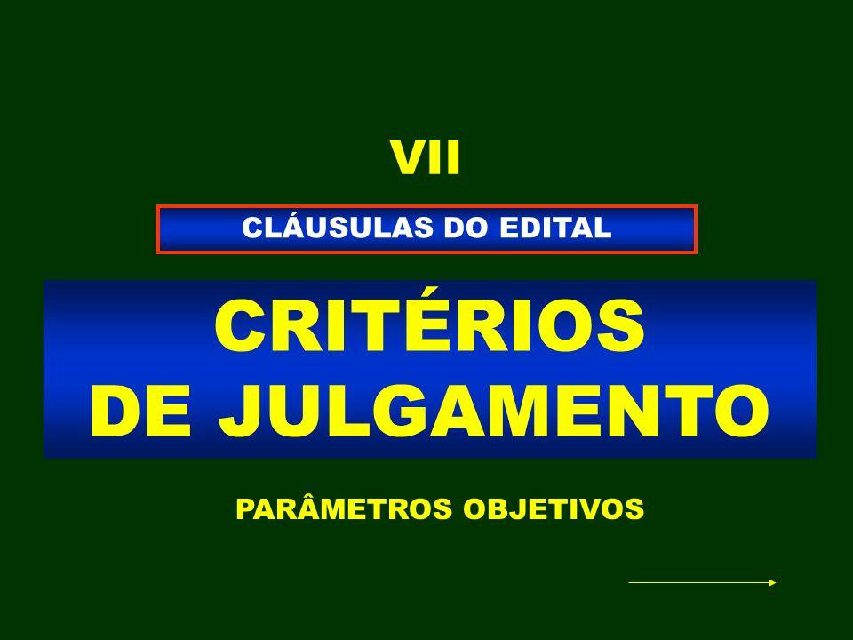 CRITÉRIOS DE JULGAMENTO