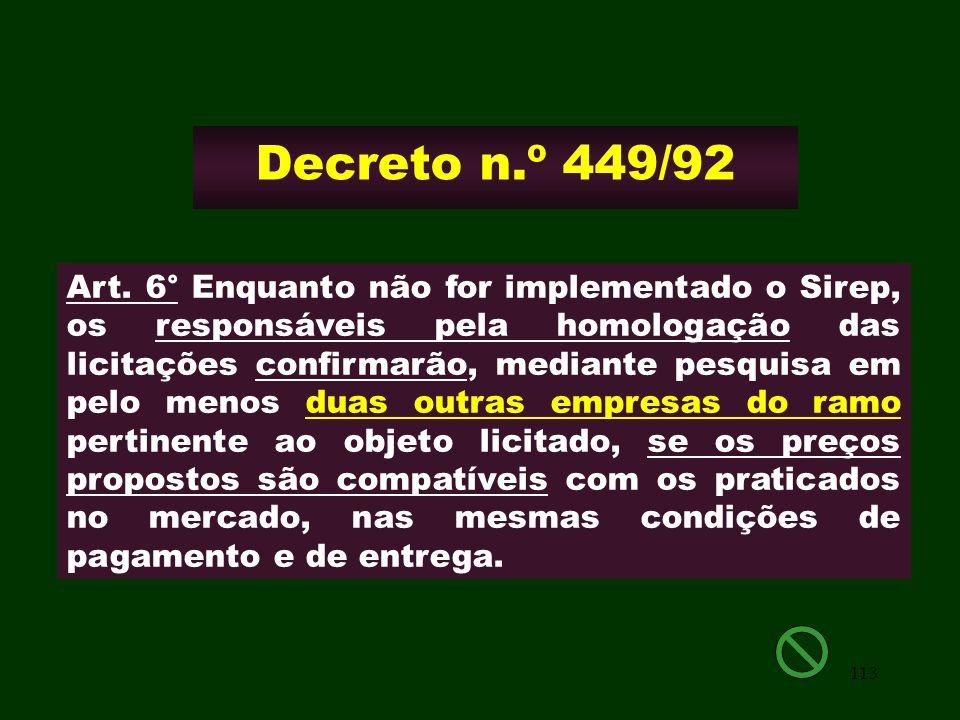 Decreto n.º 449/92