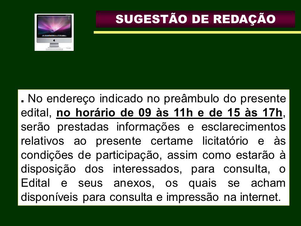 SUGESTÃO DE REDAÇÃO