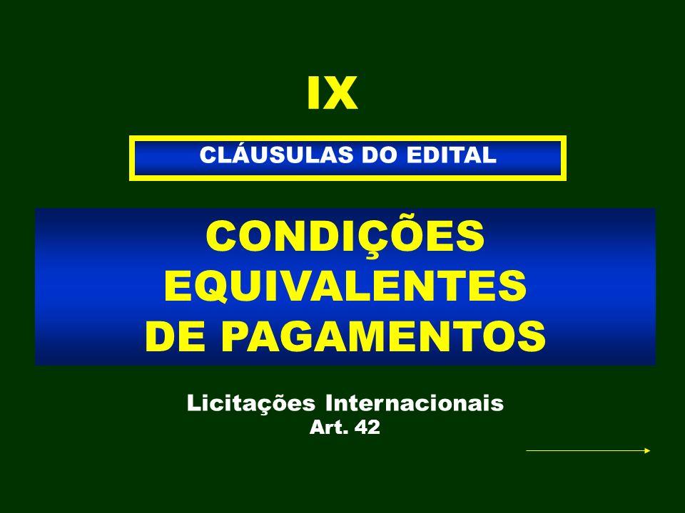Licitações Internacionais Art. 42
