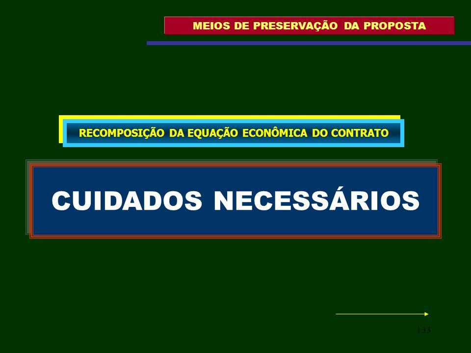 CUIDADOS NECESSÁRIOS MEIOS DE PRESERVAÇÃO DA PROPOSTA